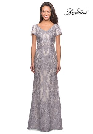 La Femme Evening 26708 Gray Mother Of The Bride Dress