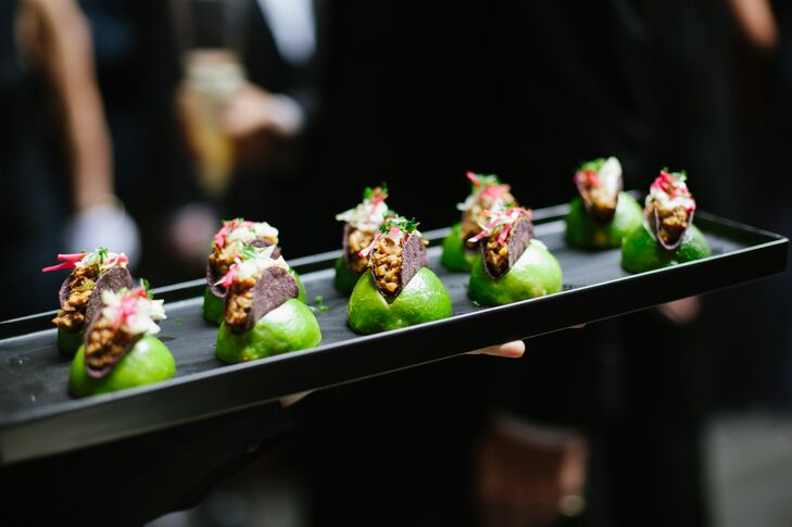 Mini Tacos in Lime Wedges Passed Appetizers