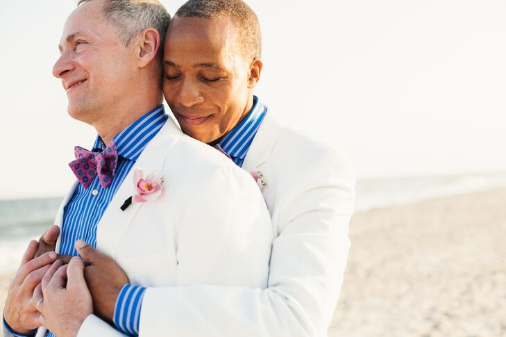 After 20 years together, David and Bruce made a mutual decision to tie the knot.