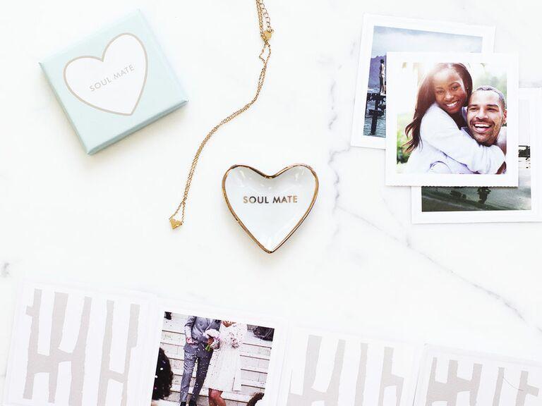 soul mate heart-shaped trinket tray