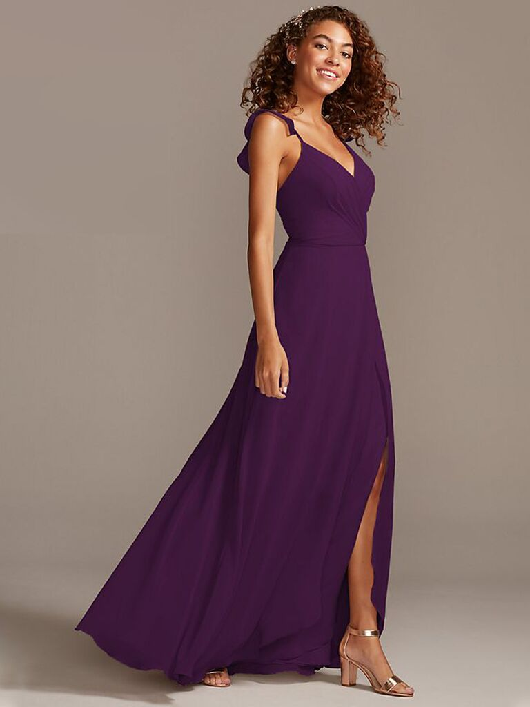 Dark purple bridesmaid dress under $100