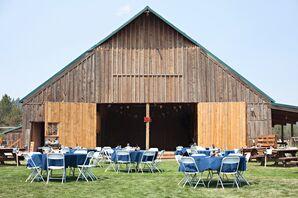 Rustic Barn Reception Setup