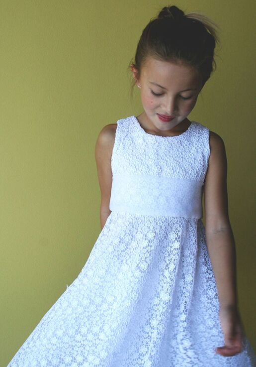 a748f6db5a4 Isabel Garretón Exquisite Floral Lace Girls Dress White Flower Girl Dress