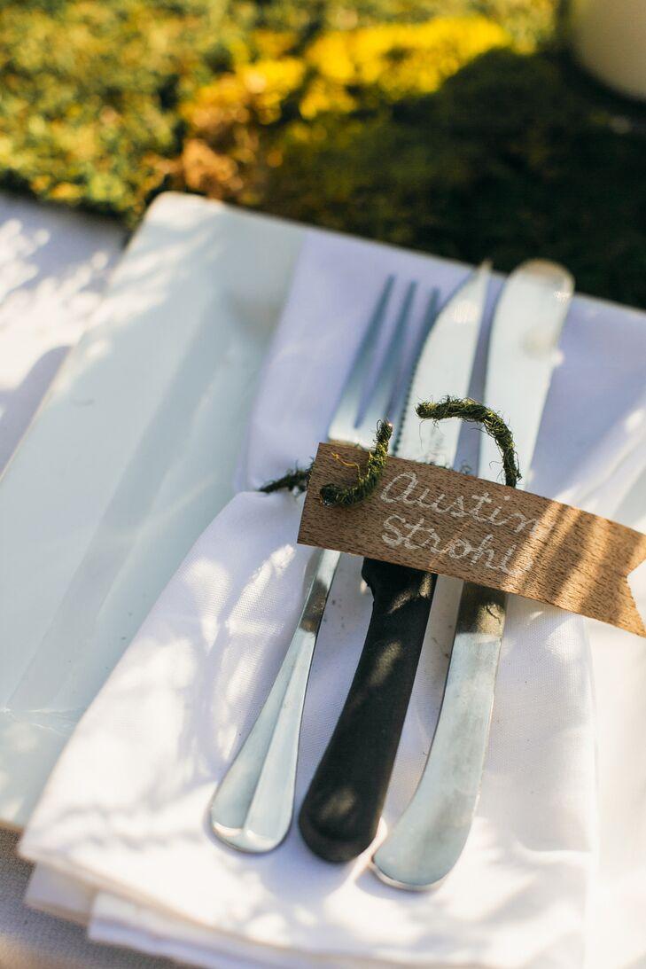 DIY Rustic Wooden Escort Card