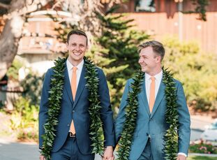 "Nick Sidney and Kip Hustace wed at the Martin Johnson House, which is part of the Scripps Institution of Oceanography in La Jolla, California. ""We bot"