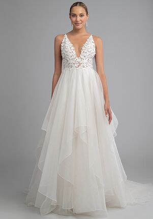 Jenny Yoo Collection McKinley with Handkerchief Skirt A-Line Wedding Dress