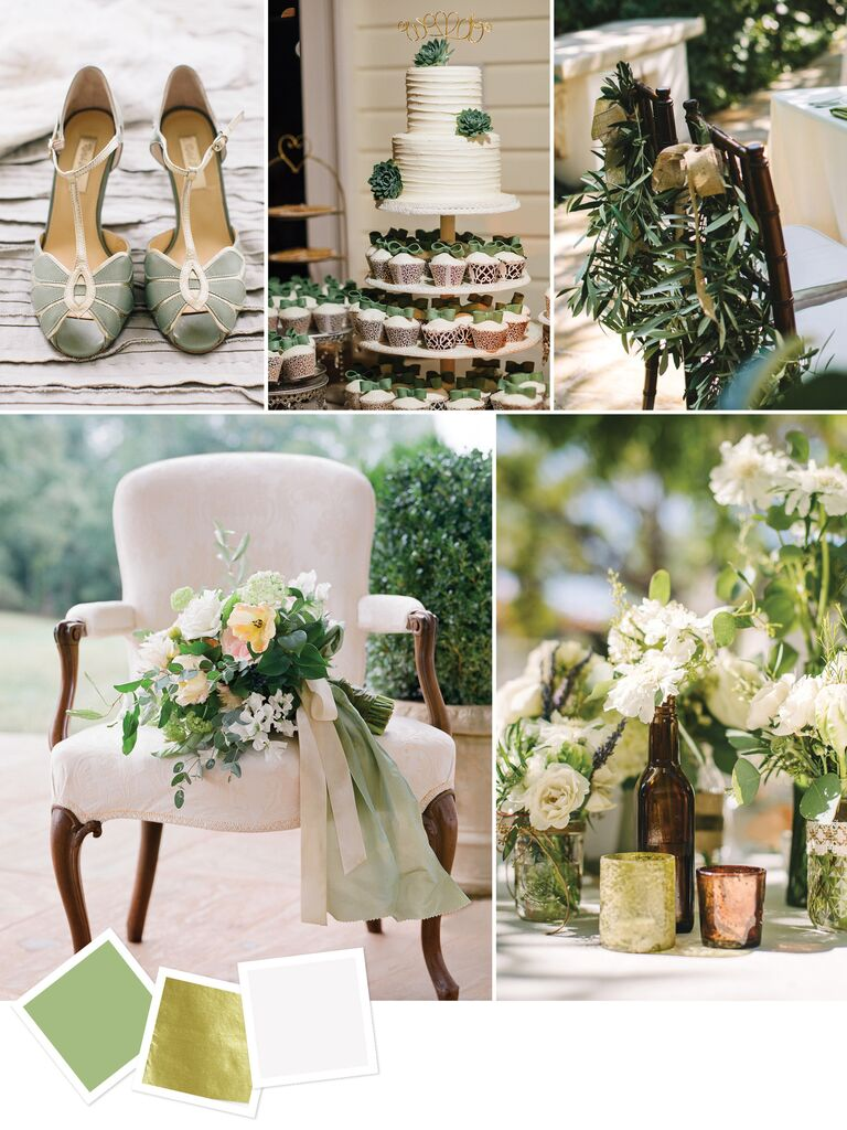 Sage Gold Ivory Elegant Wedding Color Inspiration
