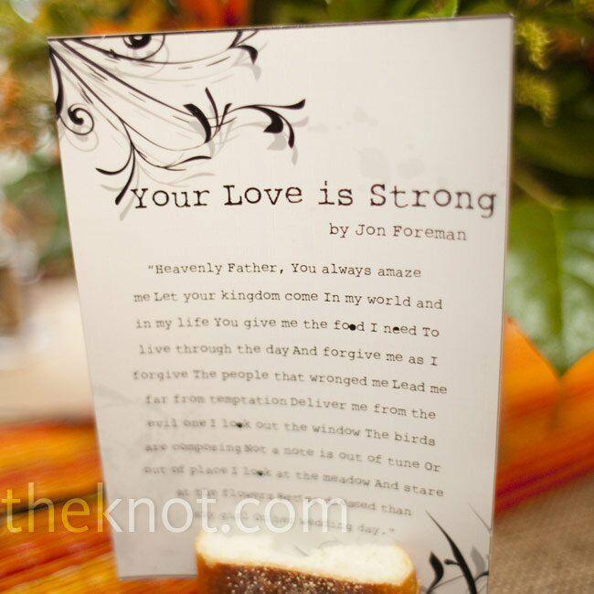 Music Themed Wedding Table Names