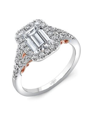 Uneek Fine Jewelry Unique Emerald Cut Engagement Ring