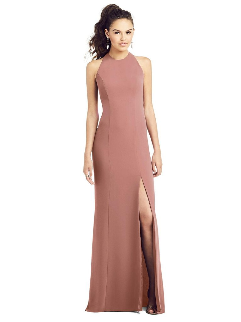 Long high neck bridesmaid dress under $150