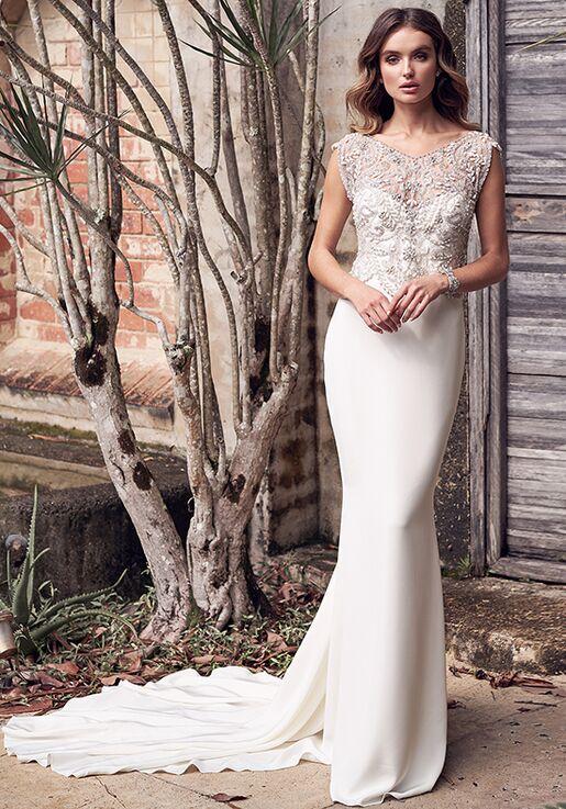 Anna Campbell Aria Silk Crepe Dress Wedding Dress The Knot