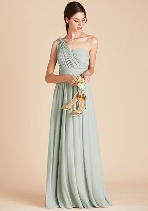 Birdy Grey Chicky Convertible Dress in Sage Strapless Bridesmaid Dress