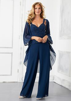 MGNY 72303 Blue Mother Of The Bride Dress