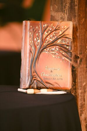 Artistic Fall-Inspired Custom Guest Book