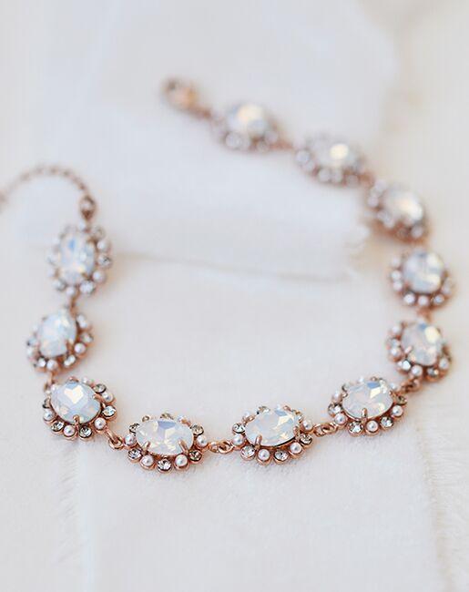 Dareth Colburn Alicia Pearl & Opal Bracelet (JB-4857) Wedding Bracelets photo