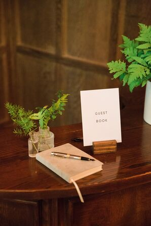 Taupe Suede Guest Book