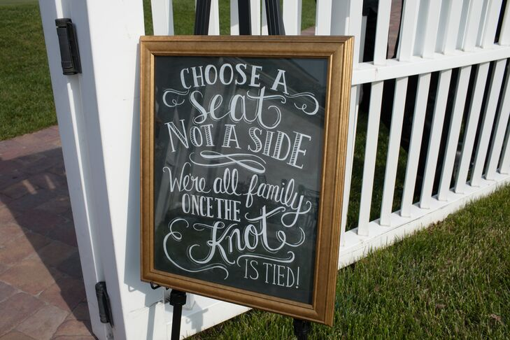 Whimsical Hand-Lettered Chalkboard Sign