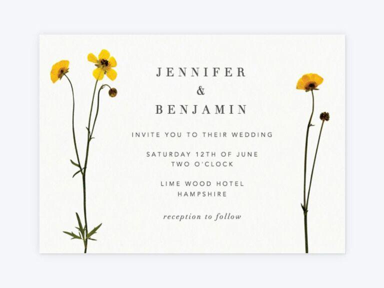 When Do You Order Wedding Invitations: 50 Spring Wedding Invitations You Can Order Online
