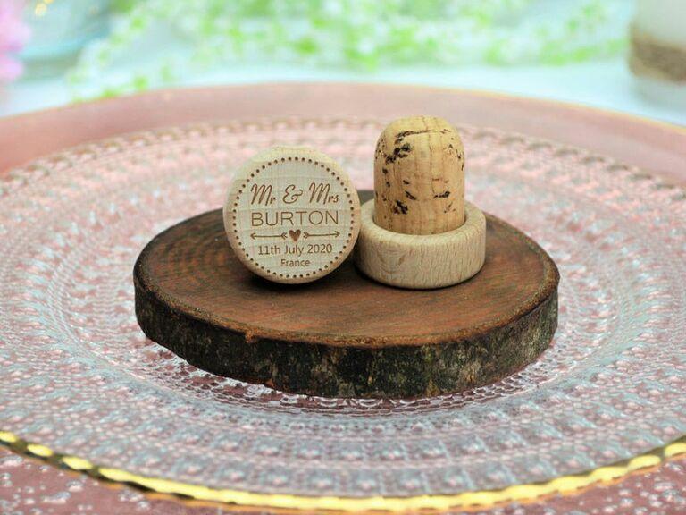 personalized wine cork