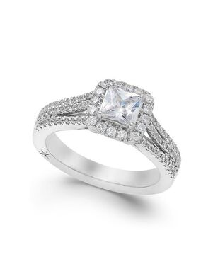 Macy's Fine Jewelry Glamorous Princess Cut Engagement Ring