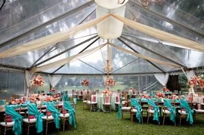 Clear-Tented Wedding Reception at Rose Hill Mansion