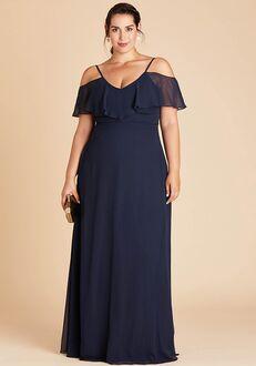 Birdy Grey Jane Convertible Dress Curve in Navy V-Neck Bridesmaid Dress