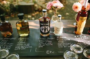 Rustic Chalkboard Whiskey and Bourbon Bar