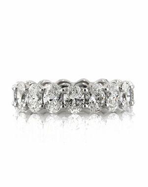 Mark Broumand 5.40ct Oval Cut Diamond Eternity Band White Gold Wedding Ring