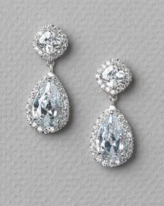 USABride Allure CZ Wedding Earrings (JE-1142) Wedding Earring photo
