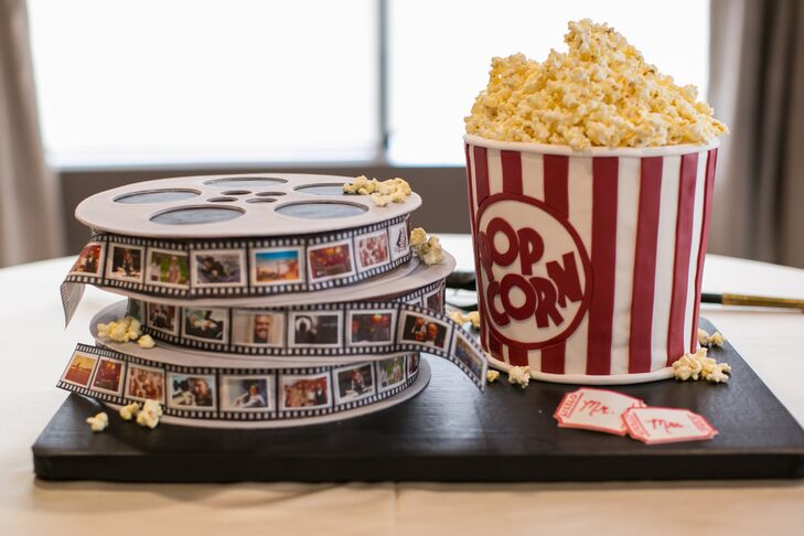 Movie Reel and Popcorn Groom's Cake