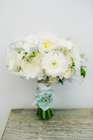 Fresh, Relaxed, White Rose Blossom Bouquets