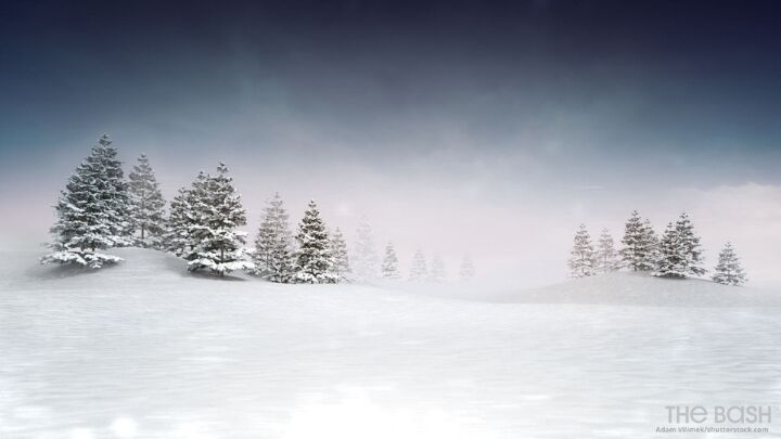 Snowy Christmas Zoom Background
