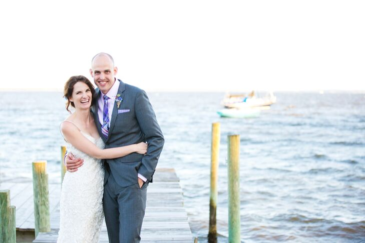 The couple exchanged vows at The Stallings House in Ben's hometown of Oriental, a quaint village known as the sailing capital of North Carolina.