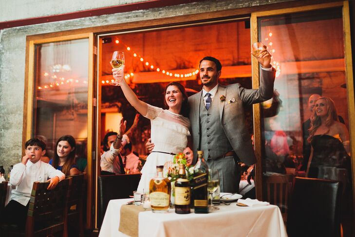 Toast to Married Couple at Wedding Reception