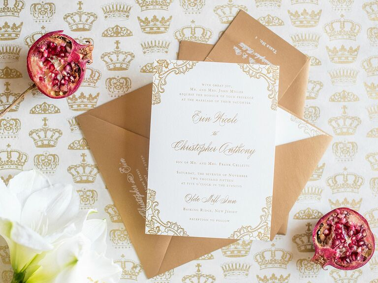 Beau Calligraphed Wedding Invitation Envelopes