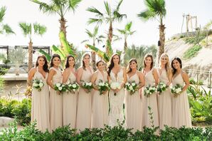 Mismatched Champagne Joanna August Bridesmaid Dresses