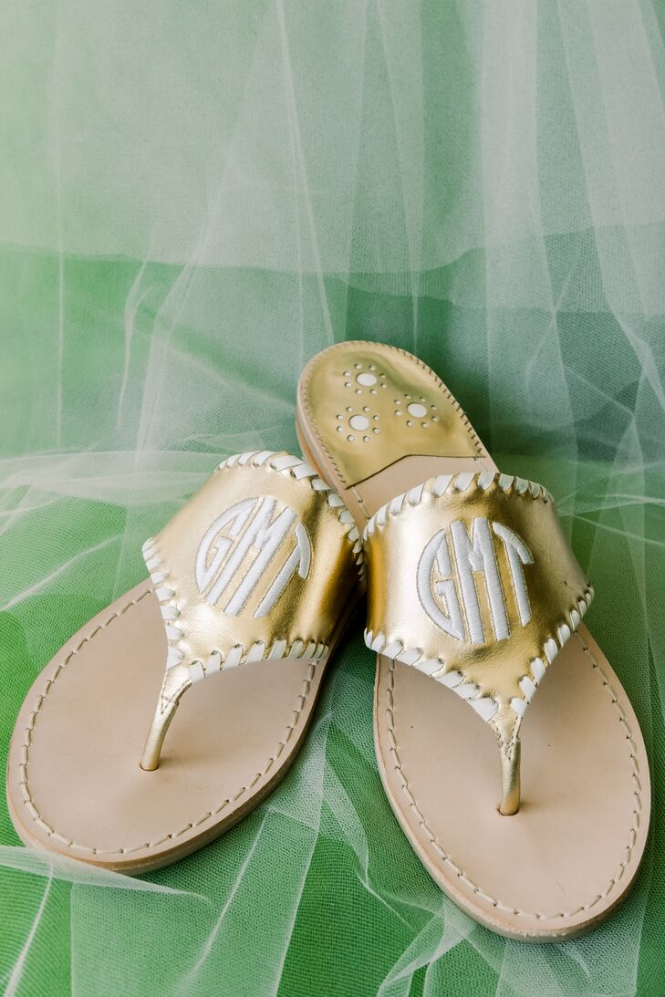 Casual Monogrammed Bridal Sandals