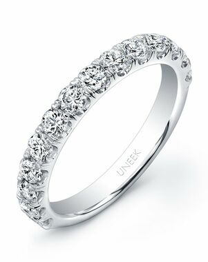 Uneek Fine Jewelry UWB03 White Gold Wedding Ring
