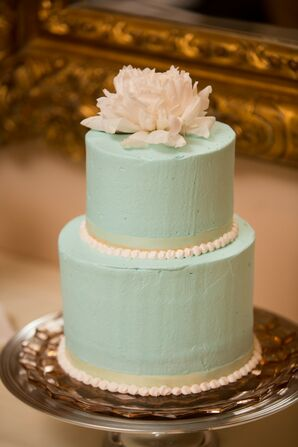 Light Green Two Tier Cake