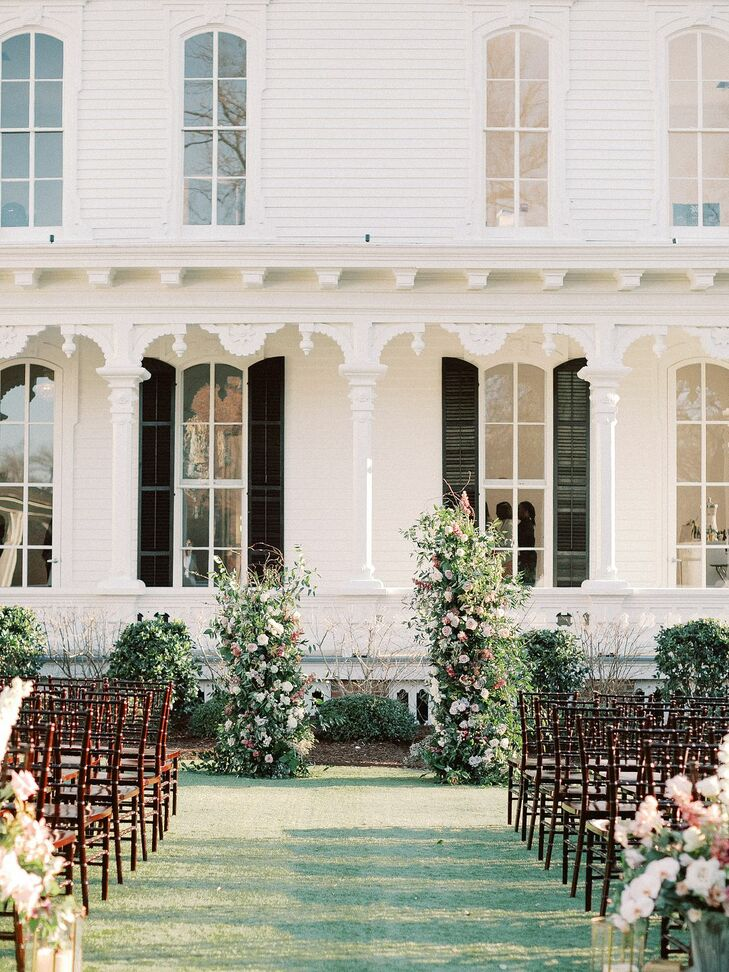 Outdoor Ceremony at North Carolina Wedding at The Merrimon-Wynne House