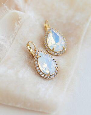 Dareth Colburn Reagan Opal & Crystal Earrings (JE-4186) Wedding Earring photo