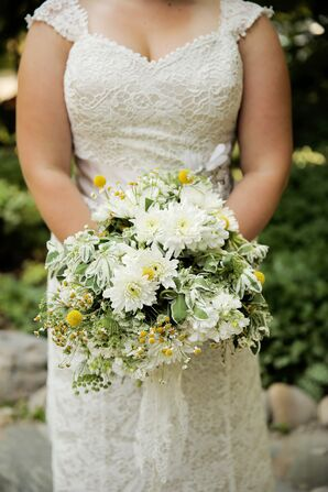 Spray Daisy and Billy Ball Bridal Bouquet