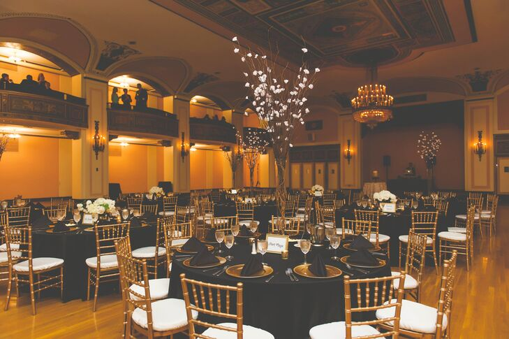 Black And Gold Reception At The Masonic Temple