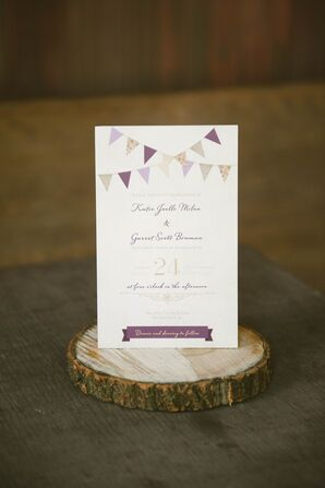 Invitation With Bunting Theme