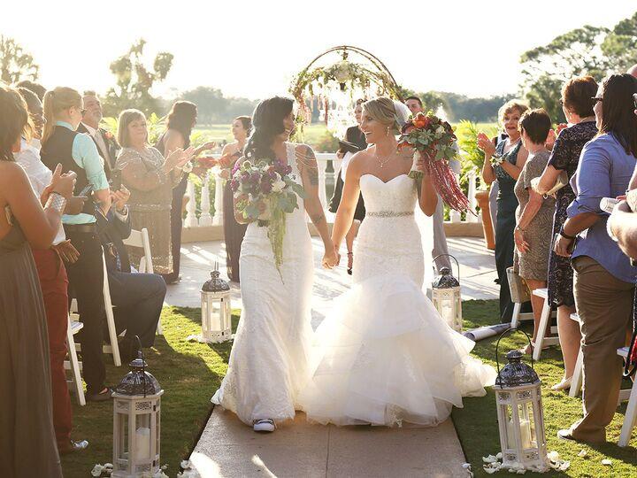 Brides at a same-sex wedding