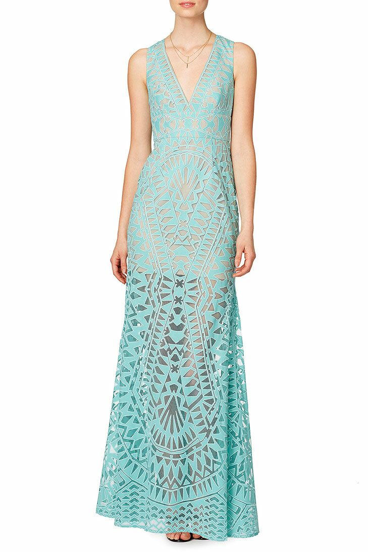 Aqua Tribal Beach Formal Wedding Attire