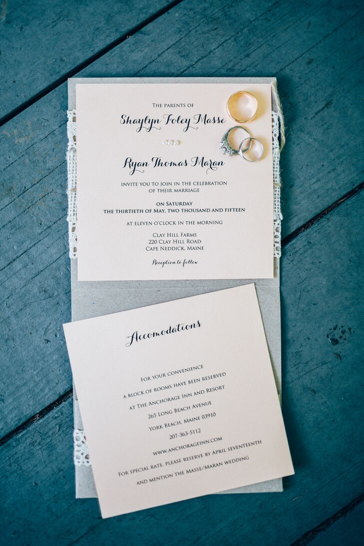 Whimsical, Rustic Wedding Invitations