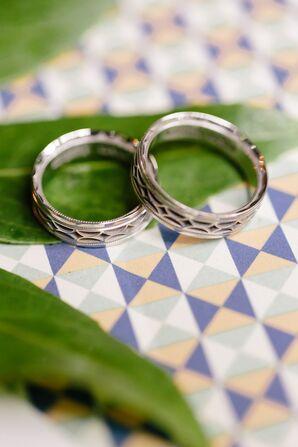 Platinum Milgrain Wedding Bands