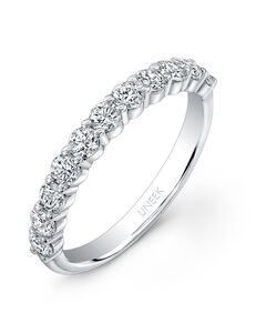 Uneek Fine Jewelry UWB06 White Gold Wedding Ring