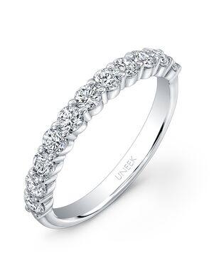 Uneek Fine Jewelry UWB06 White Gold Wedding Ring